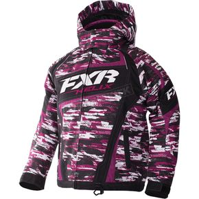 FXR Racing Youth Wineberry/White Cascade Helix Jackt - 170403-8502-10