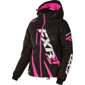 FXR Racing Women's Black Digi/Fuchsia Boost Jacket - 170204-1190-08