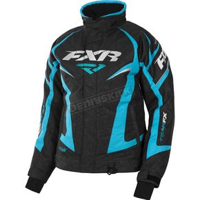 FXR Racing Women's Black Heather/Aqua Team Jacket - 170208-1150-04