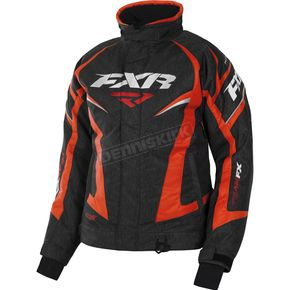 FXR Racing Women's Black Heather/Electric Tangerine Team Jacket - 170208-1135-04