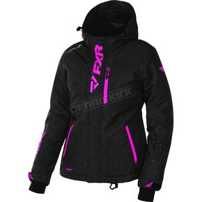 FXR Racing Women's Black Heather/Electric Pink Pulse Jacket - 170212-1194-04