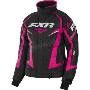 FXR Racing Women's Black Heather/Fuchsia Team Jacket - 170208-1190-02