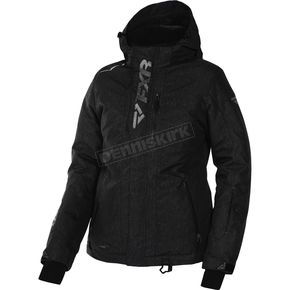 FXR Racing Women's Black Heather/Silver Pulse Jacket - 170212-1109-12