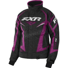 FXR Racing Women's Black Heather/Wineberry Team Jacket - 170208-1185-08