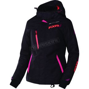 FXR Racing Women's  Black Tri/Fuchsia/Electric Tangerine Vertical Pro Jacket - 170202-1190-06