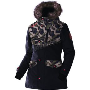 FXR Racing Women's Black/Army Urban Camo Svalbard Parka - 170214-1076-04