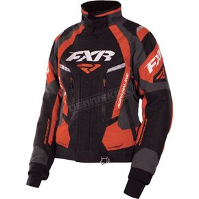 FXR Racing Women's Black/Charcoal/Electric Tangerine Adrenaline Jacket - 170210-1035-10