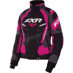FXR Racing Women's Black/Charcoal/Fuchsia Adrenaline Jacket - 170210-1090-10
