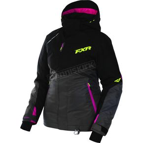 FXR Racing Women's Black/Charcoal/Fuchsia/Hi-VisRush Jacket - 170209-1008-08