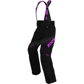 FXR Racing Women's Black/Electric Pink X-System Pants - 170310-1094-12
