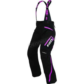 FXR Racing Women's Black/Fuchsia Vertical Pro Pants - 170304-1090-10