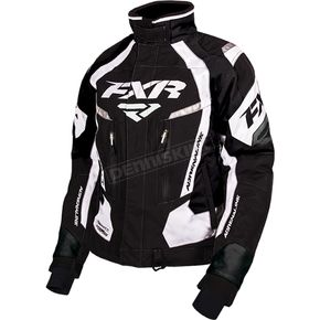 FXR Racing Women's Black/White Adrenaline Jacket - 170210-1001-10