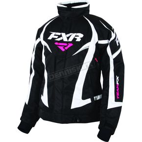 FXR Racing Women's Black/White Team Jacket - 170208-1001-16