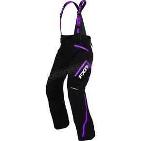 FXR Racing Women's Black/Wineberry Vertical Pro Pants - 170304-1085-08
