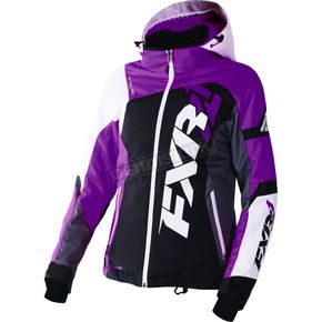 FXR Racing Women's Black/Wineberry/White Tri Revo X Jacket - 170216-1085-14