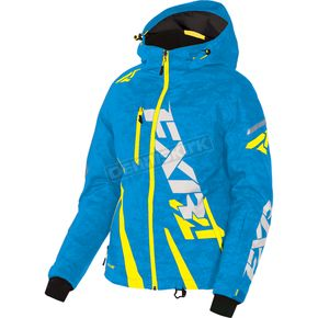 FXR Racing Women's Blue Digi/Hi-Vis Boost Jacket - 170204-4165-04