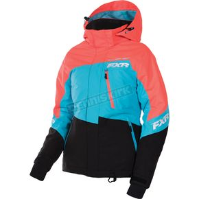 FXR Racing Women's Electric Tangerine/Aqua/Black Fresh Jacket - 170207-3550-10