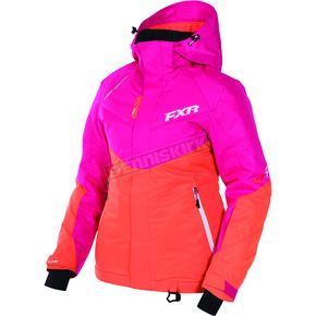 FXR Racing Women's Fuchsia//Orange Rush Jacket - 170209-9030-14