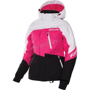 FXR Racing Women's White Tri/Fuchsia/Black Fresh Jacket - 170207-0290-12