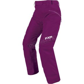 FXR Racing Women's Wineberry Fresh Pants - 170302-8500-10