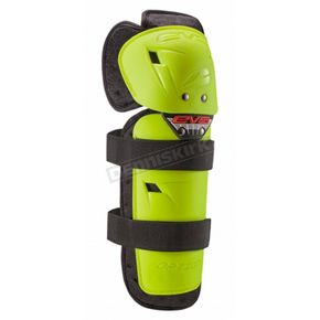 EVS Sports Youth Hi Viz Yellow Option Knee Guards - OPTK16-HVY-Y