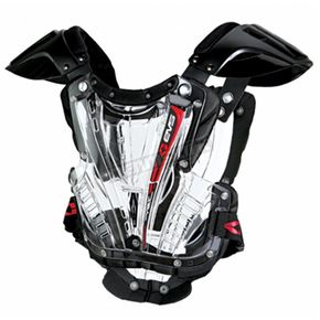 EVS Sports Youth Clear/Black Vex Chest Protector - VEXBK-S
