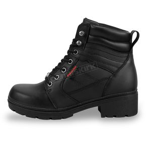 Milwaukee Motorcycle Clothing Co. Women's Black Rally Boots - MB24618