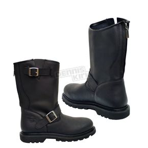 Milwaukee Motorcycle Clothing Co. Black Raider Boots - EE Wide - MB45946