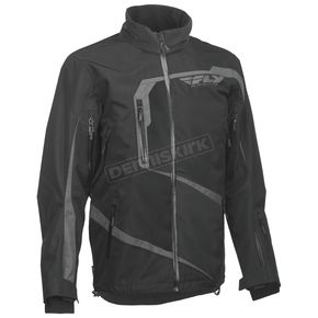 Fly Racing Black/Gray Carbon Jacket - 470-40303X