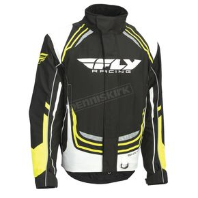 Fly Racing Youth Black/White/Hi-Vis SNX Pro Jacket - 470-4024YL