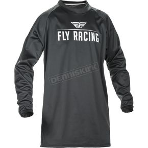 Fly Racing Black Windproof Technical Jersey - 370-800M