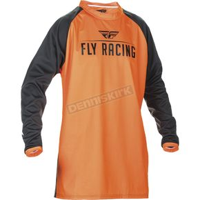 Fly Racing Fluorescent Orange/Black Windproof Technical Jersey - 370-8072X