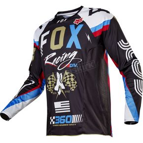 Fox Black 360 Rohr Jersey - 17247-001-S