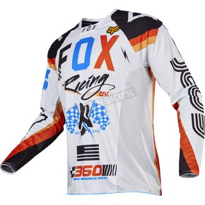 Fox White 360 Rohr Jersey - 17247-008-2X