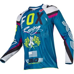 Fox Teal 360 Rohr Jersey - 17247-176-L