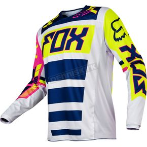 Fox Youth Navy/White 180 Falcon Jersey - 17862-045-L