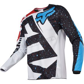 Fox Youth Red/White 180 Nirv Jersey - 17267-054-XL
