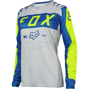Fox Women's Gray/Blue 180 Jersey - 17273-036-S