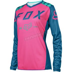 Fox Women's Blue Switch Jersey - 16687-002-S