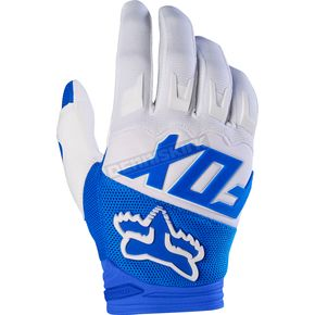 Fox Blue Dirtpaw Race Gloves - 17291-002-S