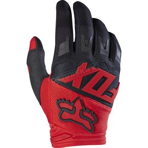 Fox Red Dirtpaw Race Gloves - 17291-003-S
