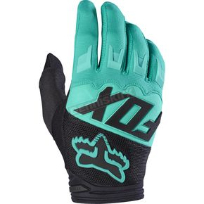 Fox Green Dirtpaw Race Gloves - 17291-004-2X