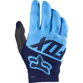 Fox Navy Dirtpaw Race Gloves - 17291-007-S