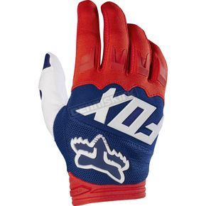 Fox Red/White Dirtpaw Race Gloves - 17291-054-S