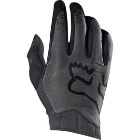 Fox Black/Gray Airline Moth Gloves - 17287-014-S
