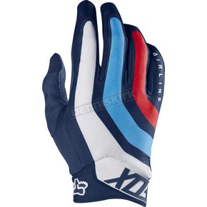 Fox Navy Airline Seca Gloves - 17288-007-M