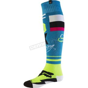 Fox Teal Fri Rohr Thin Socks - 17811-176-M