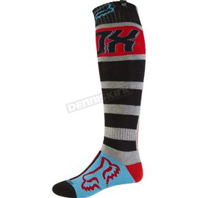 Fox Gray/Red Fri Falcon Thick Socks - 17812-037-M