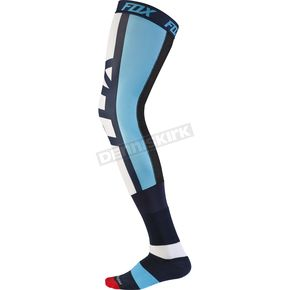 Fox Navy Seca Knee Brace Socks - 17866-007-M