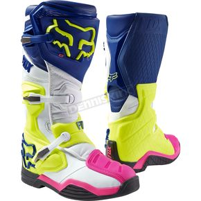 Fox Navy/White Comp 8 Boots - 16451-045-8